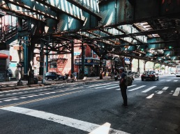 Under the Marcy Ave. stop on the F Train.